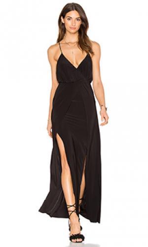 Макси платье veronika MISA Los Angeles. Цвет: черный