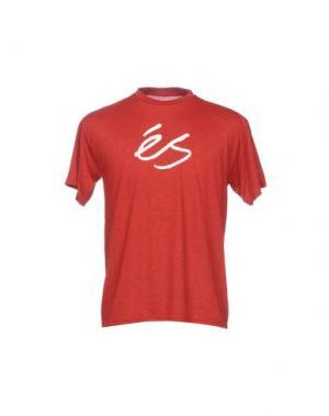 Футболка ÉS. Цвет: кирпично-красный