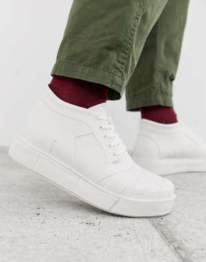 Белые кроссовки на массивной подошве -Белый Melissa