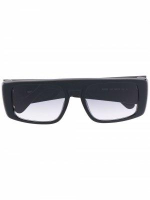Солнцезащитные очки в прямоугольной оправе с логотипом Gcds. Цвет: черный