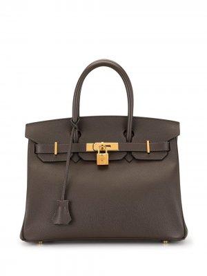 Сумка Birkin 30 2009-го года Hermès. Цвет: коричневый
