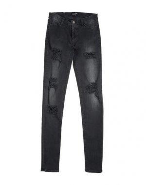 Джинсовые брюки LITTLE REMIX. Цвет: черный