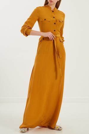 Длинное платье с поясом Gucci. Цвет: multicolor