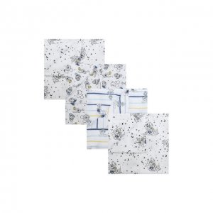 Набор из четырех пеленок Aden+Anais. Цвет: разноцветный