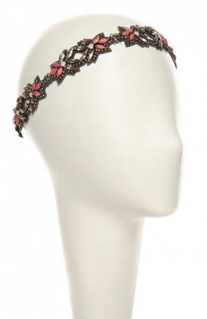 Повязка для волос Deepa Gurnani. Цвет: светло-розовый