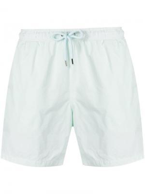 Плавательные шорты с эластичным поясом Aspesi. Цвет: зеленый