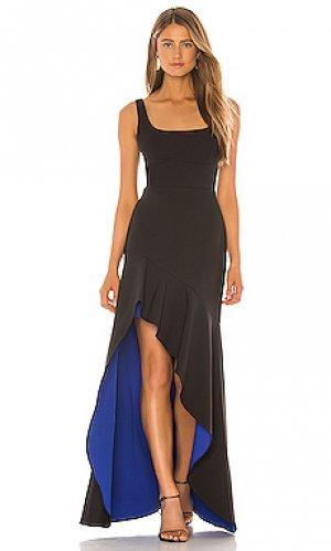 Вечернее платье BCBGMAXAZRIA. Цвет: черный