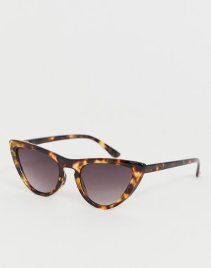Солнцезащитные очки кошачий глаз в черепаховой оправе -Коричневый AJ Morgan