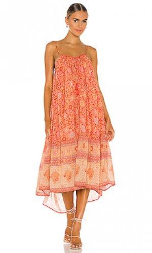 Платье миди love story Spell. Цвет: оранжевый