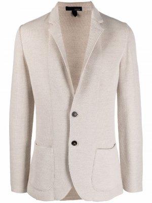 Однобортный пиджак строгого кроя Lardini. Цвет: нейтральные цвета
