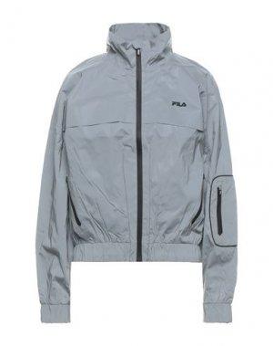 Куртка FILA. Цвет: серый