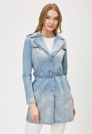 Куртка джинсовая DSHE. Цвет: синий