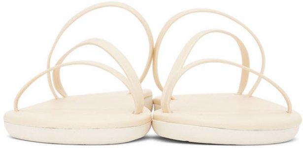 Off-White Parthena Sandals Ancient Greek. Цвет: off white