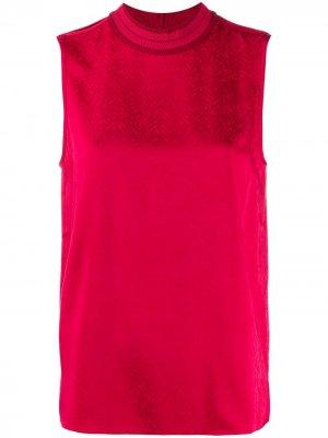 Блузка с узором в елочку Rag & Bone. Цвет: красный