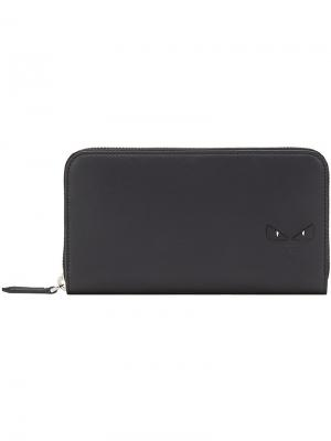 Бумажник на молнии Fendi. Цвет: чёрный