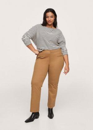 Укороченные брюки flare - Trumpet2 Mango. Цвет: коричневый средний
