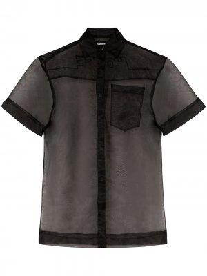Полупрозрачная рубашка House of Holland. Цвет: черный