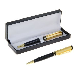 Ручка шариковая, подарочная, поворотная, в кожзам футляре, Calligrata