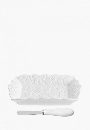 Масленка Elan Gallery. Цвет: белый