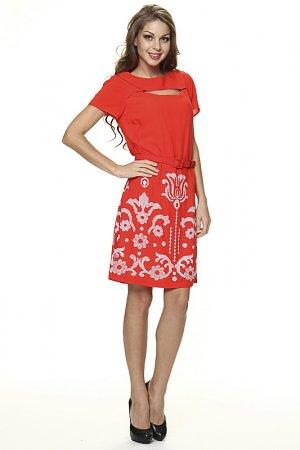 Платье Eva Franco. Цвет: оранжевый