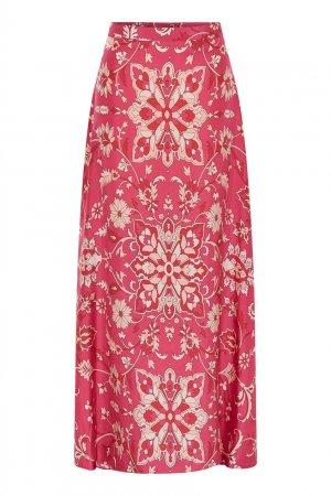 Розовая юбка с растительным принтом Gerard Darel. Цвет: розовый