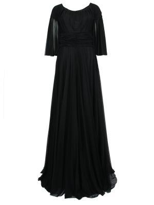 Вечернее шелковое платье DOLCE & GABBANA