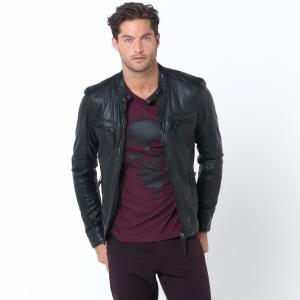 Куртка кожаная OAKWOOD. Цвет: каштан