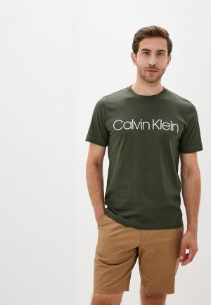 Футболка Calvin Klein. Цвет: хаки
