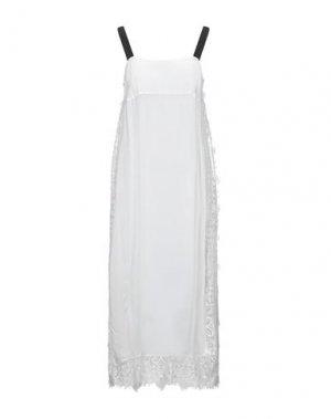 Платье длиной 3/4 LIVIANA CONTI. Цвет: белый