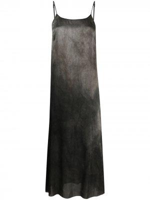 Платье миди без рукавов Uma Wang. Цвет: черный