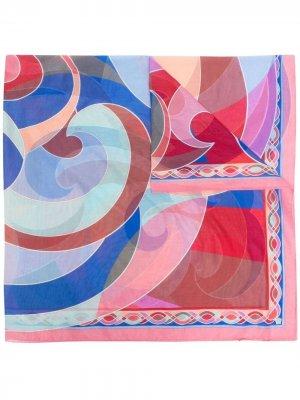 Саронг с принтом Quirimbas Emilio Pucci. Цвет: синий