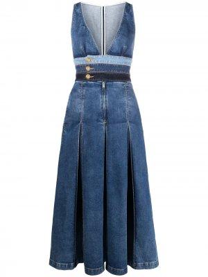 Джинсовое платье со складками Dsquared2. Цвет: синий