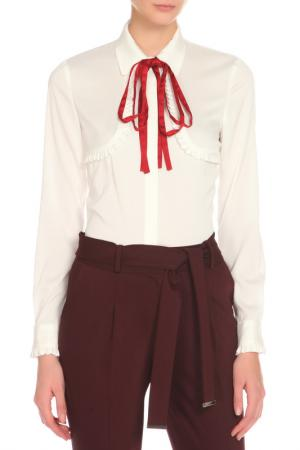 Блузка Ketroy. Цвет: белый