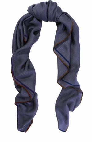 Платок Quadrata Four In Hand из смеси кашемира и шелка Loro Piana. Цвет: синий