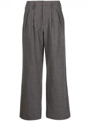 Широкие брюки в клетку Folk. Цвет: серый