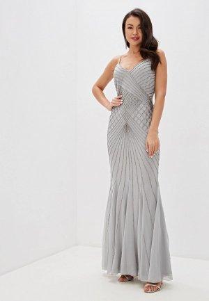 Платье Goddiva. Цвет: серый