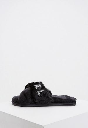Тапочки Karl Lagerfeld. Цвет: черный