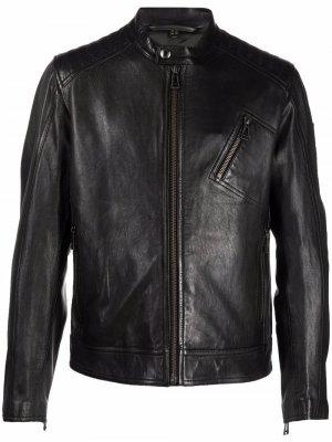 Куртка на молнии Belstaff. Цвет: черный