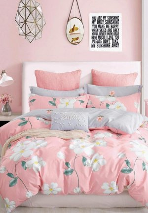 Постельное белье Евро Dream Time. Цвет: розовый