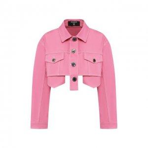 Джинсовая куртка Balmain. Цвет: розовый