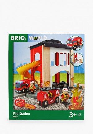 Конструктор Brio Пожарное отделение. Цвет: разноцветный
