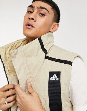Кремовый жилет в утилитарном стиле -Белый adidas