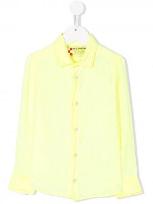 Рубашка Agnes 94 с длинными рукавами Mc2 Saint Barth Kids. Цвет: желтый