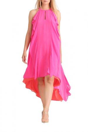 Платье Apart. Цвет: розовый, коралловый