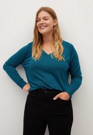 Пуловер Violeta by Mango - AGORA. Цвет: бирюзовый