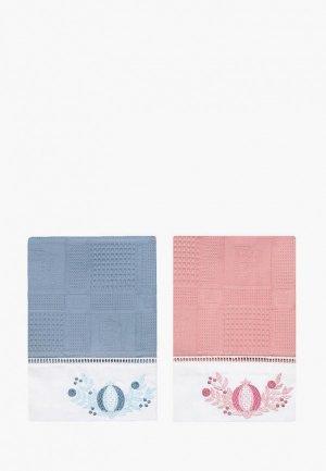Набор полотенец кухонных Bellehome Цветочный браслет, 40х70 см