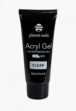 Гель-лак для ногтей Planet Nails Acryl Gel прозрачный, 60гр. Цвет: прозрачный