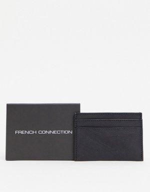 Черный кожаный кошелек для карт -Черный цвет French Connection