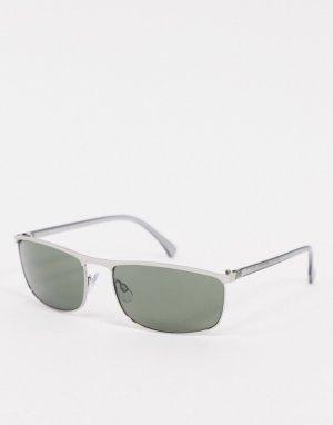 Серебристо-матовые квадратные солнцезащитные очки -Серебристый AJ Morgan