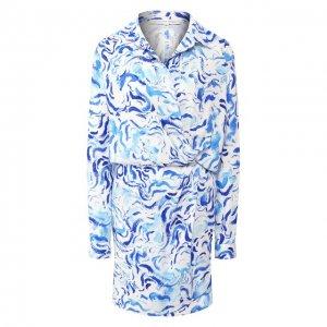 Платье из вискозы Alexander Terekhov. Цвет: синий